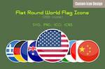 Flat Round World Flag Icons