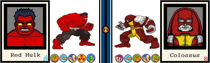 AvsX - Red Hulk vs. Colossus by GEEKINELL