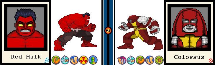 AvsX - Red Hulk vs. Colossus by GEEKINELL