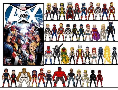 Micro Heroes: Avengers vs X-Men Round 1