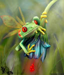 Fly Frog Mascote _ Fe RoD by Fe-RoD