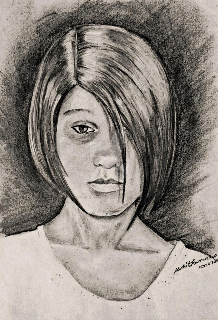 Portrait practice by Mohit Kumar Rao Artist by mohitkumarrao