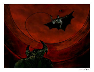 Batman vs steppenwolf drawing by mohit kumar rao  by mohitkumarrao