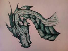 green dragon)))) by Dvil-Dog