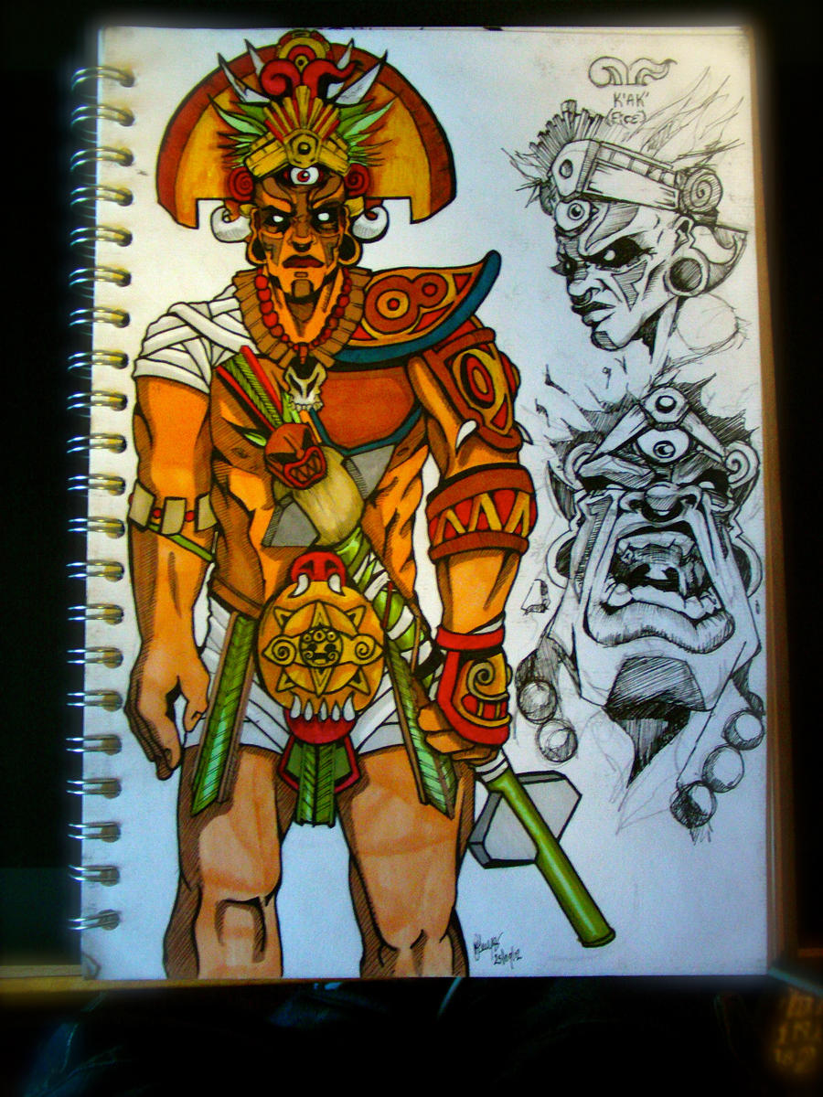 Character Design - Aztec God by Killerfishy on DeviantArt