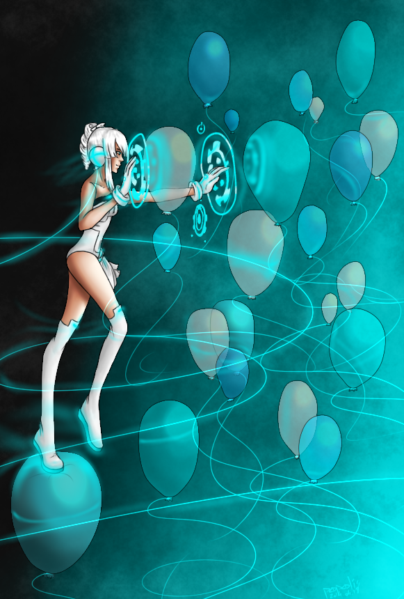 Techno Balloons [Contest Entry] by popolis