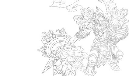 Lineart Taric by Dark-nyghtmare