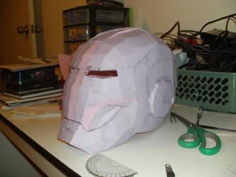 iron man helmet pepakura 2 by Cyber-Hand
