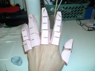 iron man hand pepakura 2 by Cyber-Hand