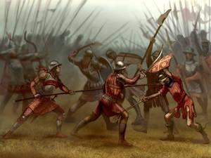 An Empire of Nicaea vs Latin Empire battle
