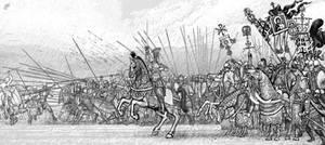 Byzantine army charge.