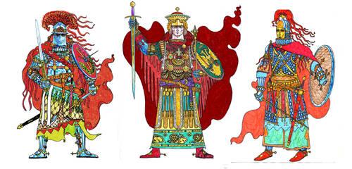 medieval Roman(Byzantine) fantasy characters