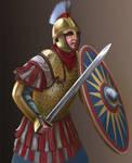 V century roman warrior