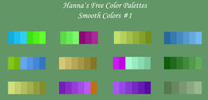 Hanna's Free Color Palettes - Smooth Colors #1 by Amarthrien