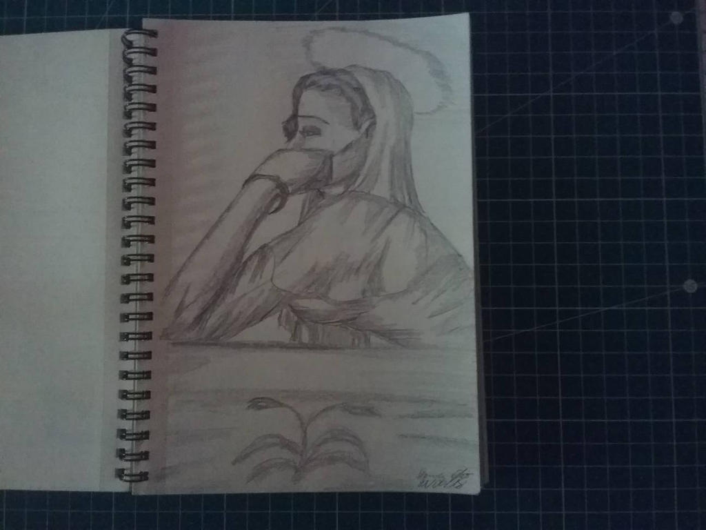 Traditional Sketchbook Mary by HannaEsser