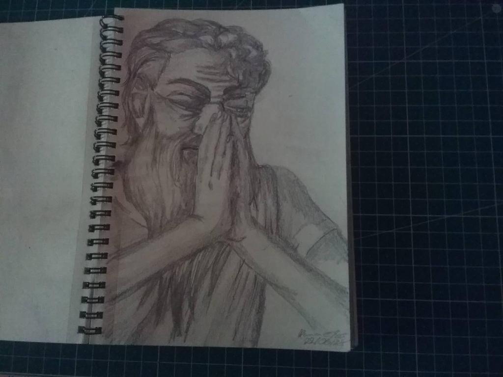 Traditional Sketchbook Abraham by HannaEsser