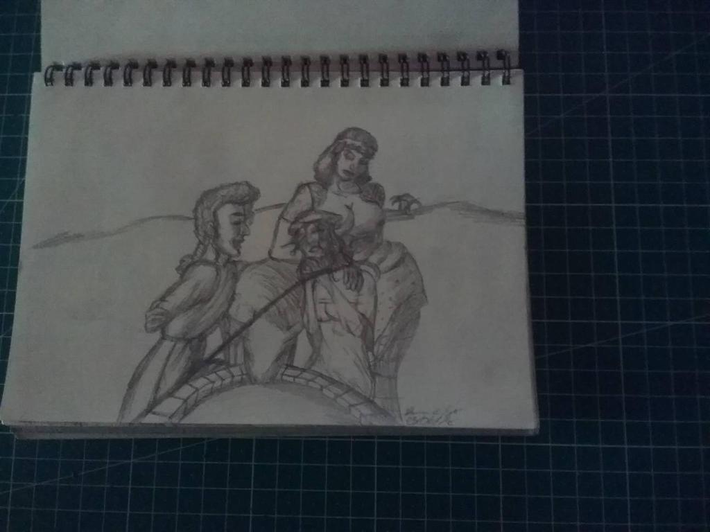 Traditional Sketchbook Jacob Met Rahel by HannaEsser