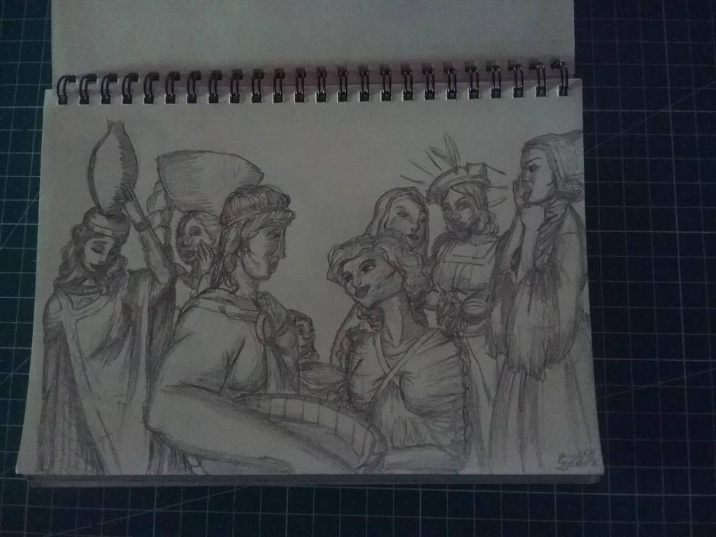 Traditional Sketchbook Moses Met Zipporah by HannaEsser