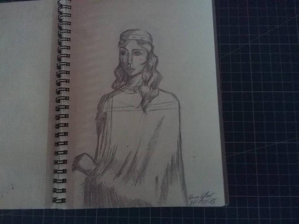 Traditional Sketchbook Byzantine Study by HannaEsser