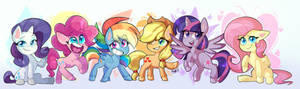 Mane six. Pony life