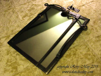 Gothic Nouveau Mirror Frame by isolatedreality