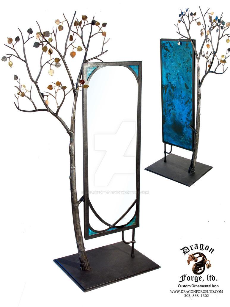 Aspen Tree Mirror by isolatedreality