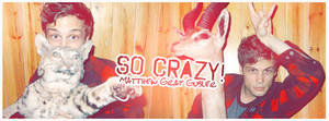Matthew Gray Gubler Crazy Sign