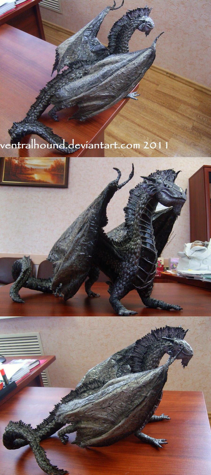 DD series: Silver Dragon by VentralHound