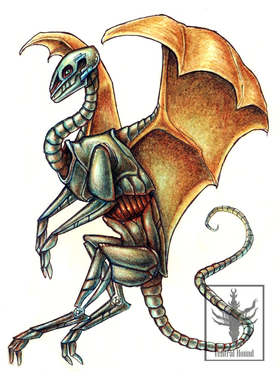 Mecha dragon by VentralHound
