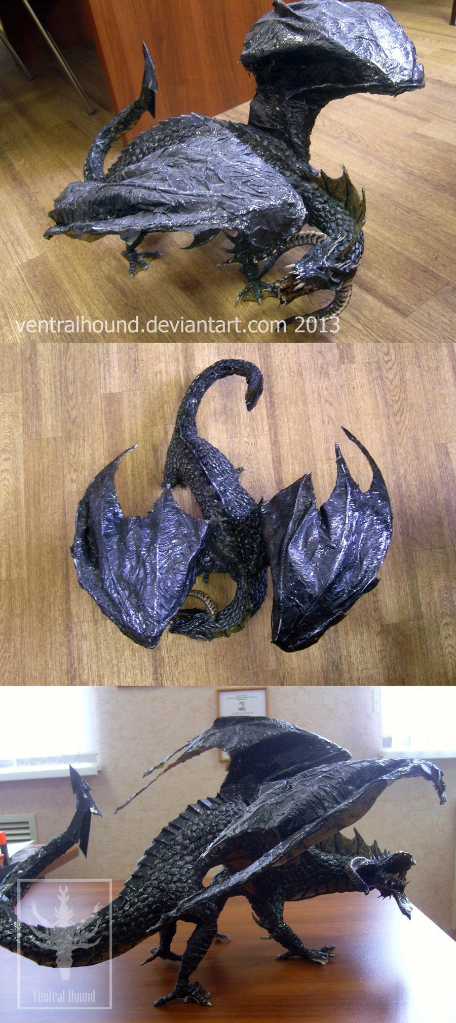 DnD series: Black Dragon by VentralHound