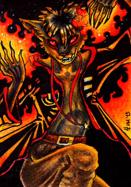ACEO trade: Ferox by VentralHound