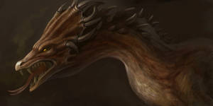 rust dragon by VentralHound