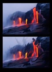 dragons by VentralHound