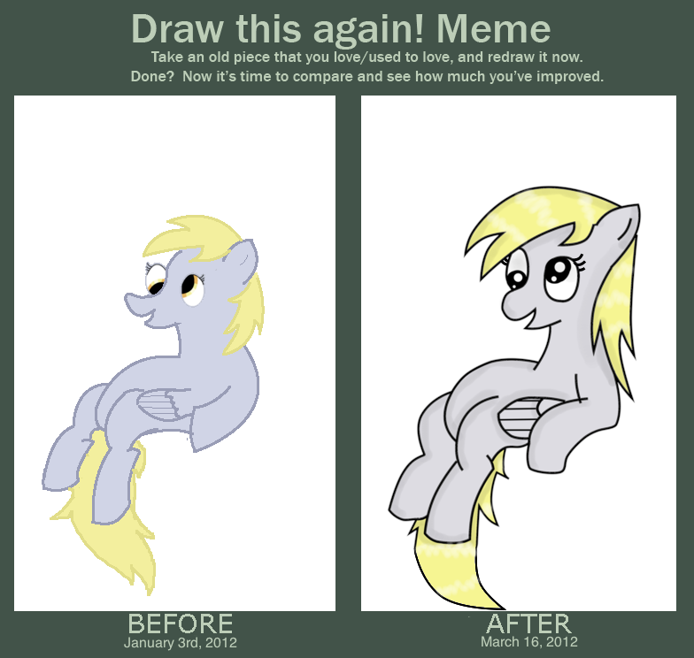 how to draw a derp my style