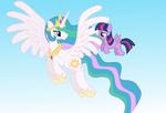 AT: Celestia and Pegasus Twilight