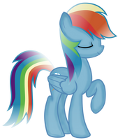 Rainbow Dash: Shading Attempt by WillowTails