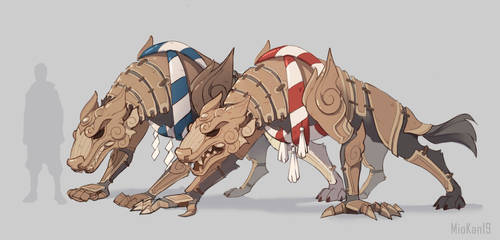 Concept art of inugami armor