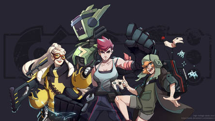 Character art for 'High voltage sands' mobile game