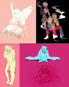 Lineart Commissions batch July