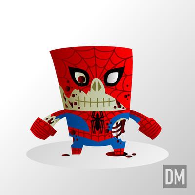 Zombie Spiderman by DanielMead