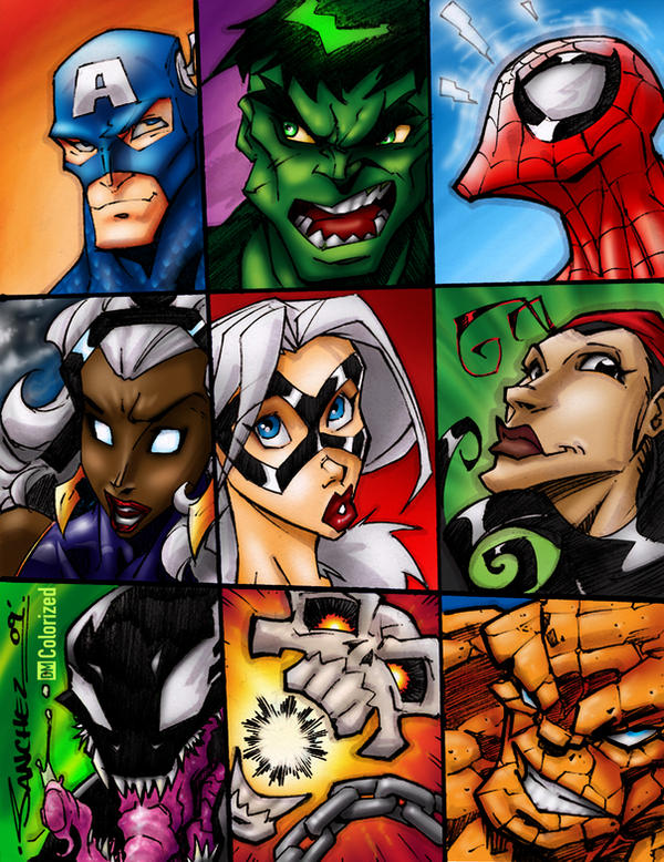 Mighty Marvel Headz - Colored by DanielMead
