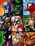Mighty Marvel Headz - Colored