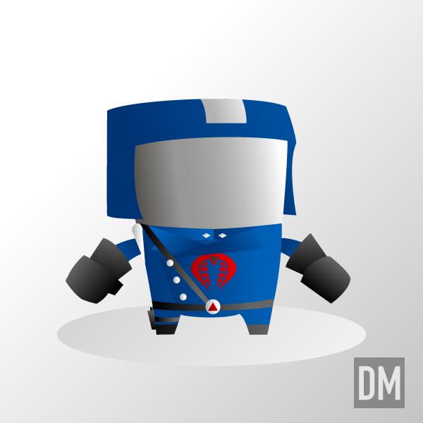 Cobra Commander Chome Dome by DanielMead