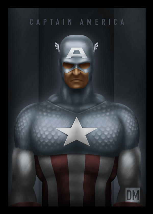 TCard - Captain America by DanielMead