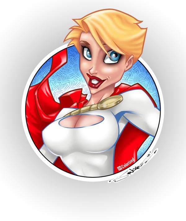 Colorized Power Girl by DanielMead