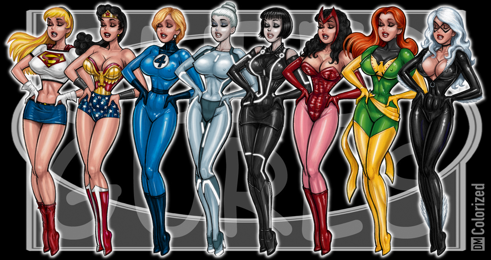 Super Gurls 2 Colorized by DanielMead