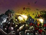 Deadpool vs. Zombies Colorized