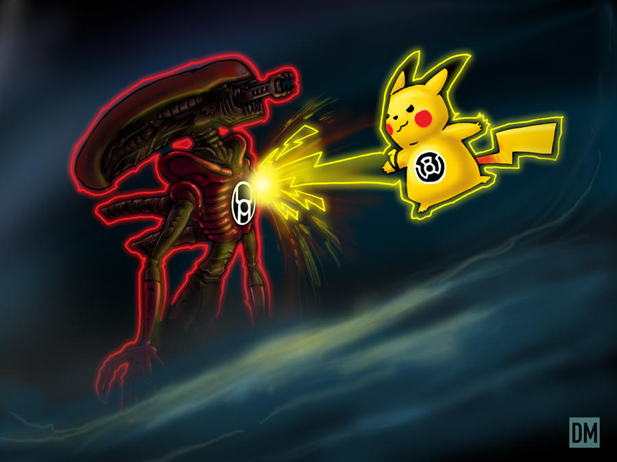 Pikachu vs. Giger by DanielMead