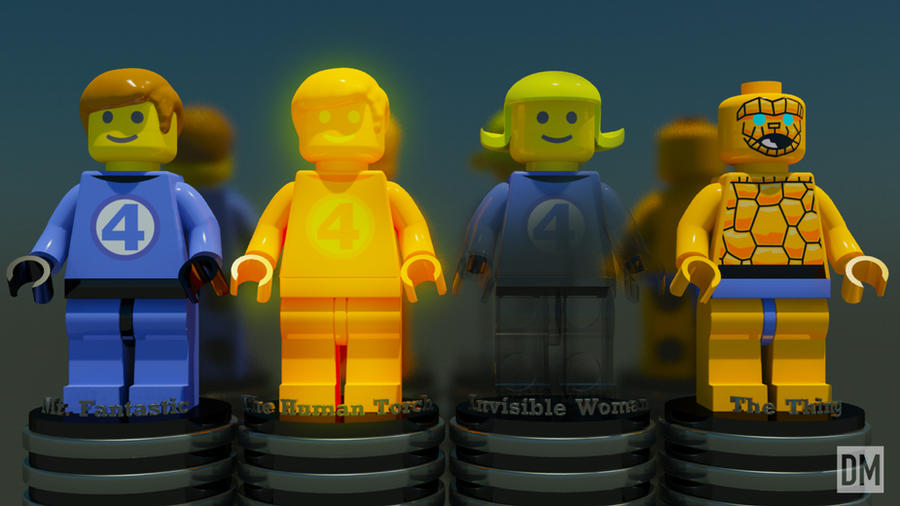 Lego Fantastic Four by DanielMead
