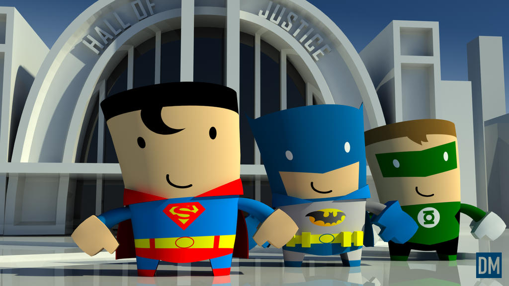 Hall of Justice Wedgies by DanielMead
